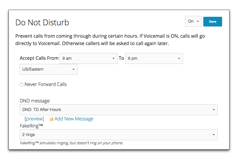 Tossable Digits Support: Do Not Disturb Feature