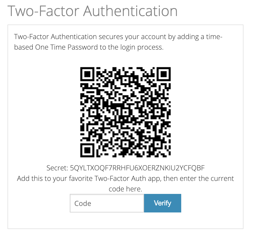 Tossable Digits Two-Factor Auth QR Code
