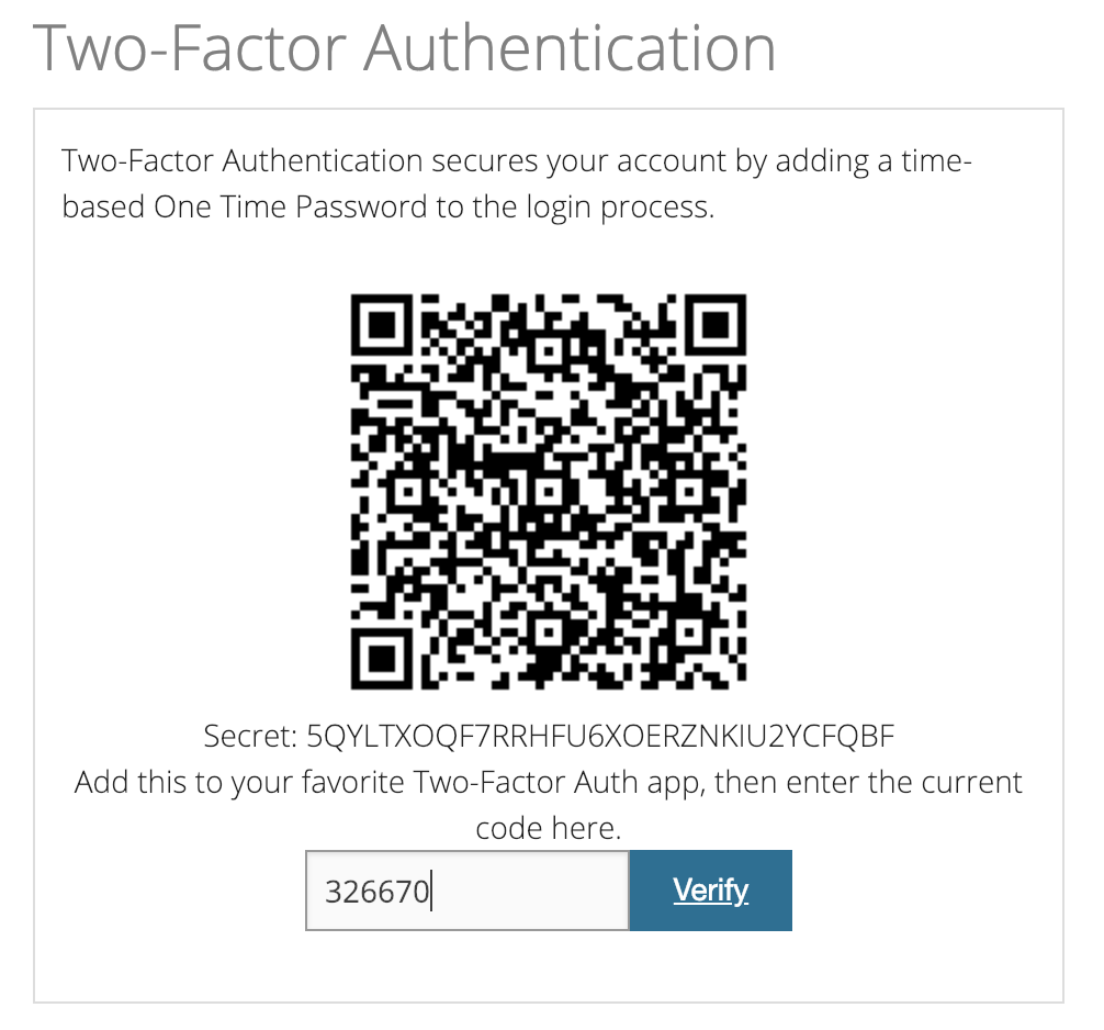 Tossable Digits Two-Factor Auth QR Code Verify