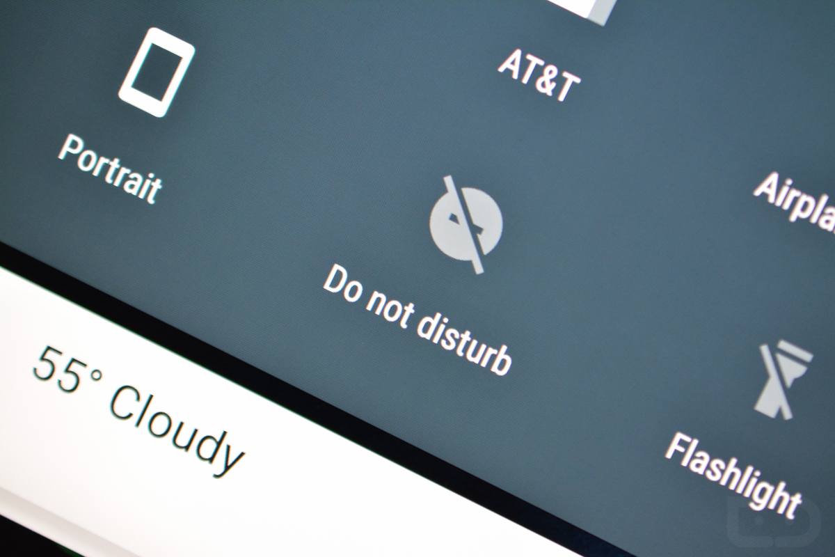 Android Do Not Disturb Quick Settings