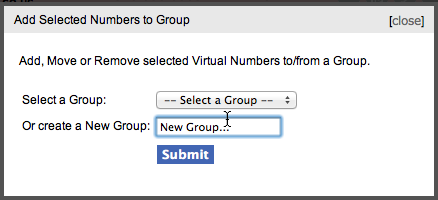 Virtual Number Groups