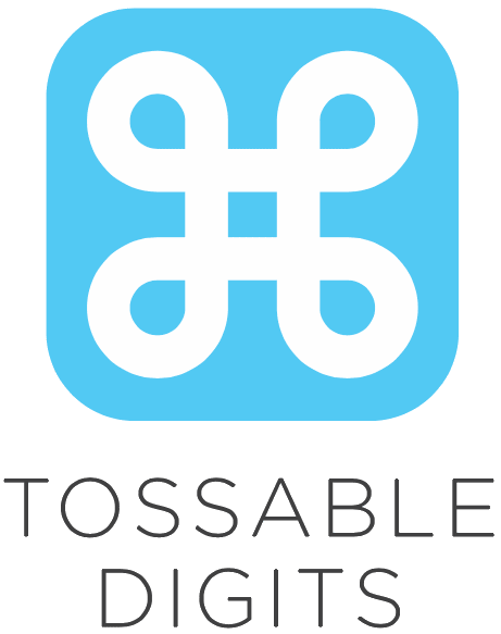 Tossable Digits Logo